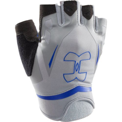 UA Flux Half-Finger Training Gloves Steel/Royal