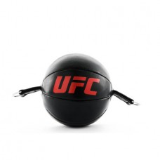 UFC PRO Leather Double End Bag, Black-Red