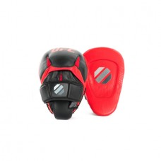 UFC PRO Perfect Curve Punch Mitts, Black/Red
