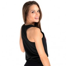 Tangle Tie-Front Tank Top, Black