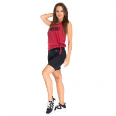 Tangle Tie-Front Tank Top, Burgundy