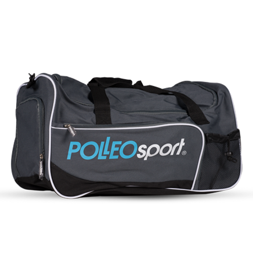 Polleo Sport Gym Star Duffle Bag, Black/Grey